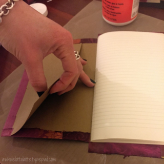 covering kraft moleskin notebooks #DIY #finepaper #papercrafting @Paper_Source