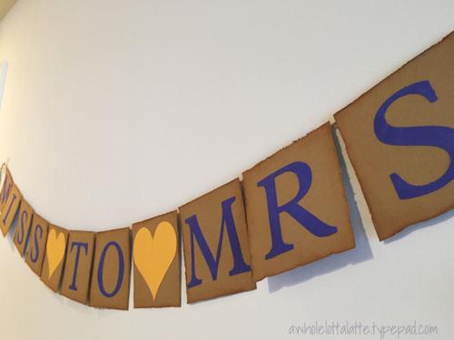 distressed bridal shower banner #banner #bridalshower #distress