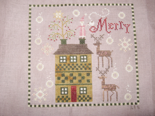 Merry Brew by Plum Street Samplers #crossstitch #coffee #christmas #santa