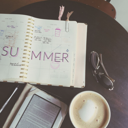 Coffee, reading, planning.  #planner #coffee #planneraddict