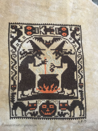 Double, Double | Prairie Schooler #crossstitch #halloween