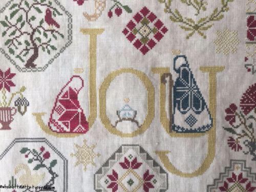 Joy Quaker Sampler #christmas #crossstitch #sampler #quaker