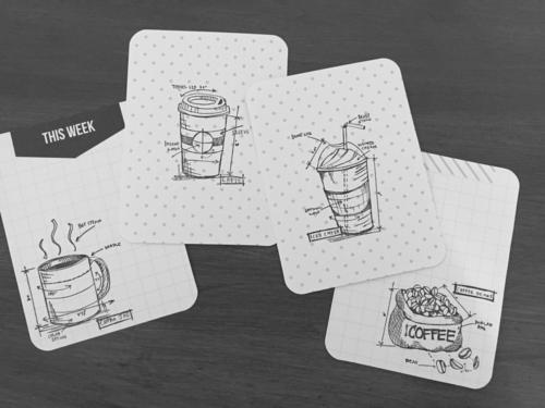 Tim Holtz coffee blueprint stamps