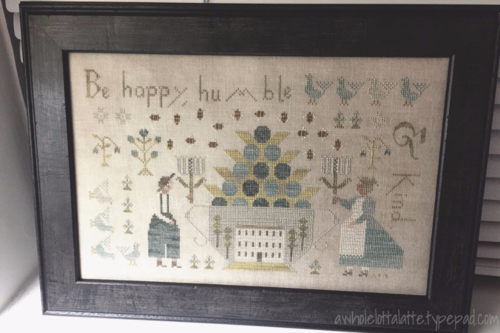 With Thy Needle and Thread | Be Happy, Humble & Kind #crossstitch #needlework