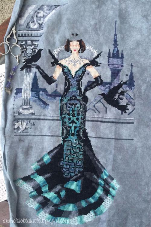 Raven Queen | Mirabilia #crossstitch #mirabilia #ravenqueen #needlework