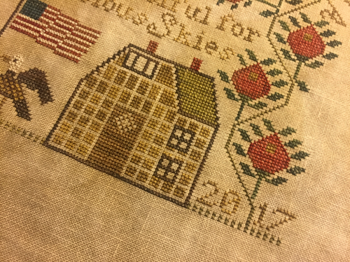 Heartstring Samplery O Beautiful For Spacious Skies #crossstitch #patriotic