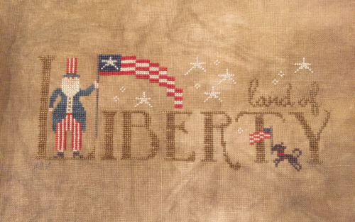 Land of Liberty #WithThyNeedleandThread #crossstitch #patriotic